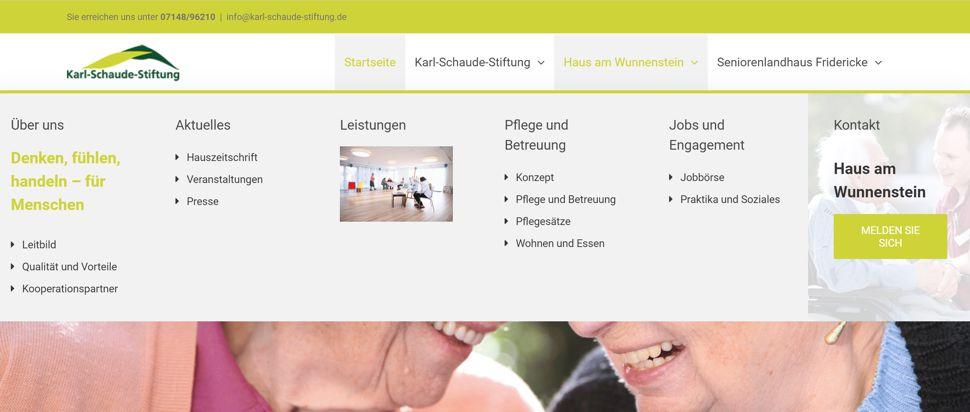 Karl Schaude Stiftung - Menü