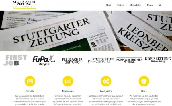 Web Stuttgarter Zeitung Werbevermarktung