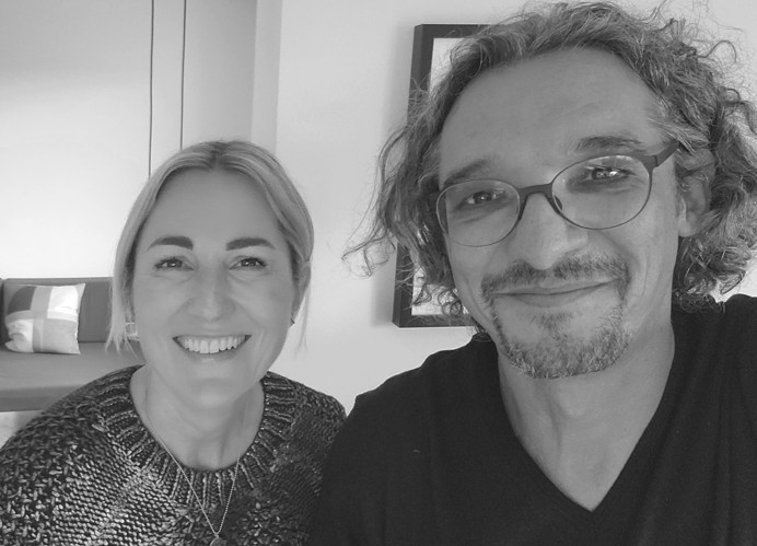 Christina Haneberg und David Traens